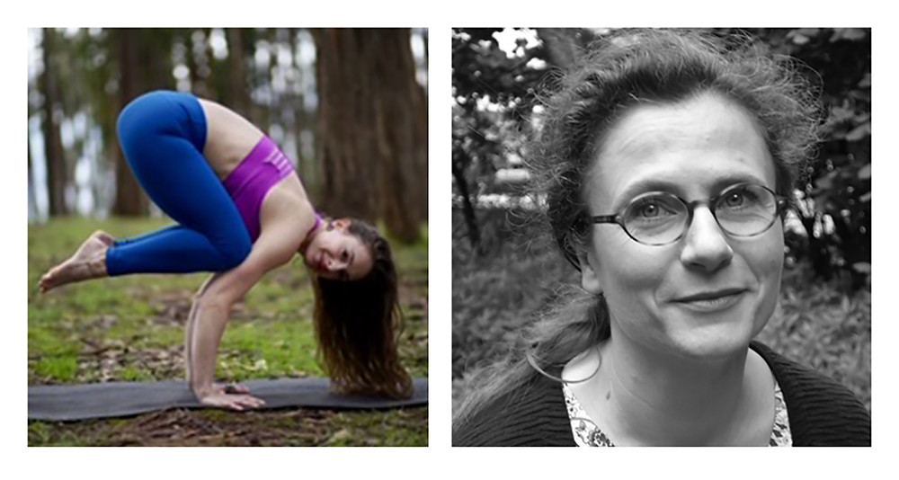 yoga teacher Hannah Adams and Dr Catherine Tallon-Baudry, podcast guests