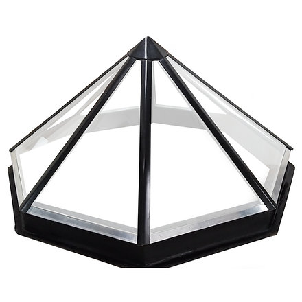 Ascot Skylights Fibreglass Slim Bar Octagonal / Hexagonal Dome