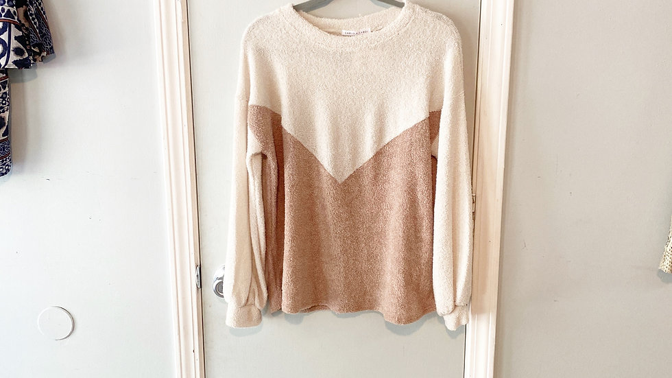 Chris & Carol French Terry Type Sweater Size S