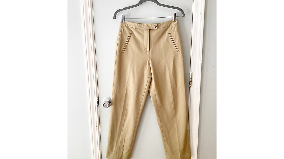 Talbot's Beige Career Pant Size 2