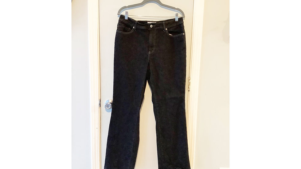 Chico's Black Straight Leg Jeans Size 12