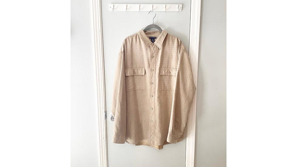 Knightsbridge Beige Men's Button Up Size XL