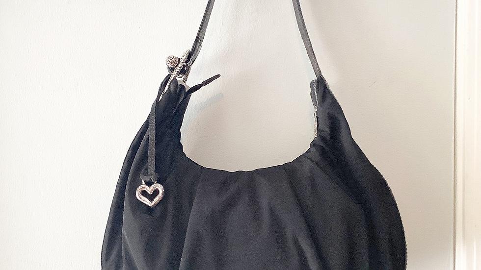 Brighton Nylon/Leather Handbag