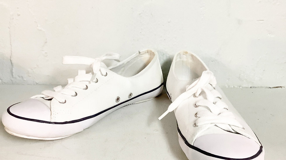 Polo Ralph Lauren Parnell White Sneakers Size 7