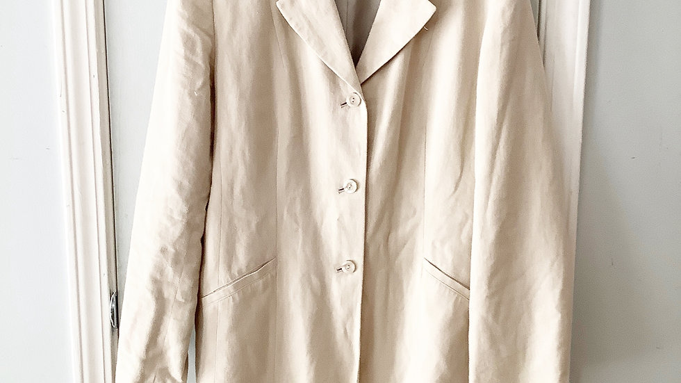 Norton McNaughton Linen Blend Blazer Size 12