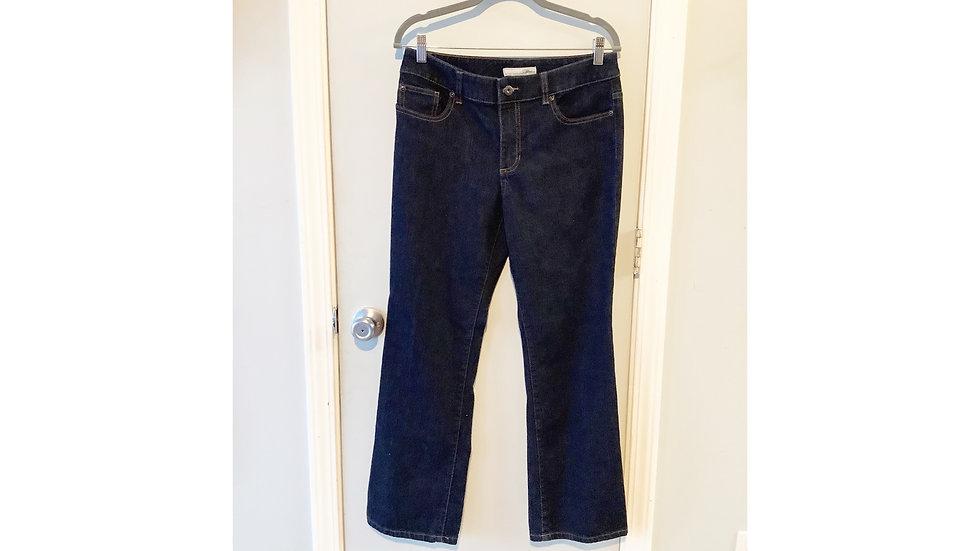 Chico's Straight Cut Dark Wash Jeans Size 6S