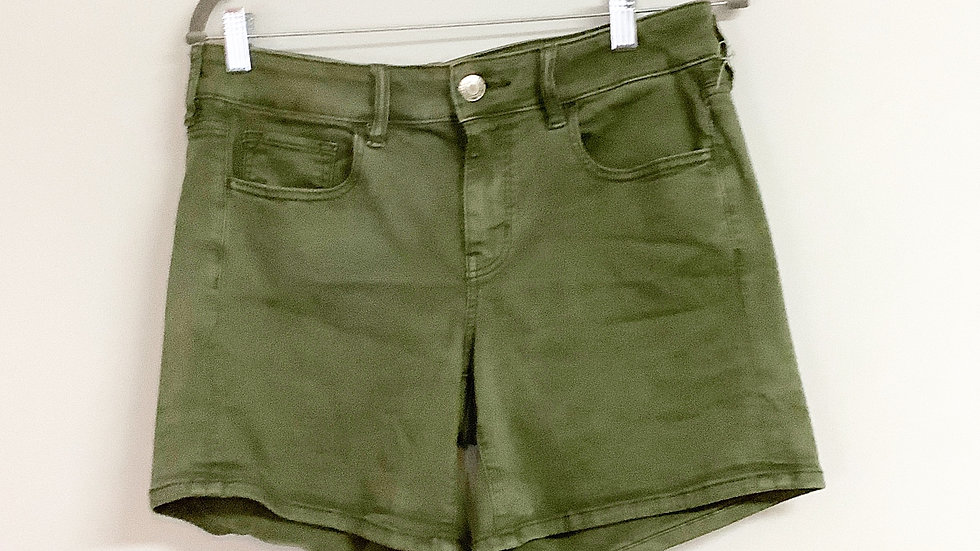 American Eagle Midi Olive Shorts Size 10