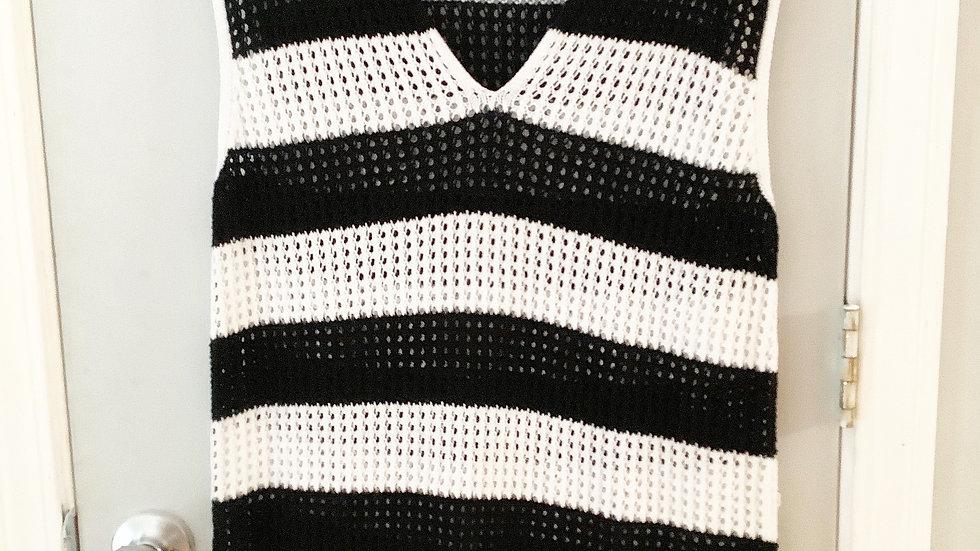 Jeanne Pierre Open Weave Sweater Vest Size XL
