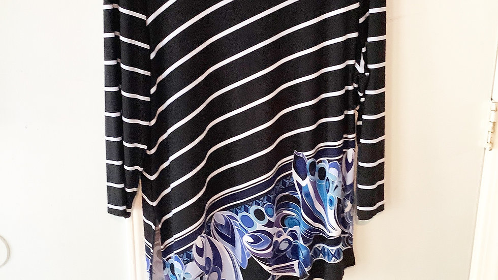 Traverlers By Chico's Asymettrical Blouse Size 12/L