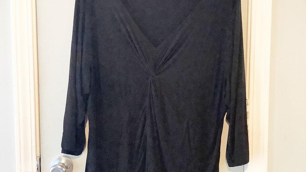 Ellen Tracy Woman Black Blouse Size 2X