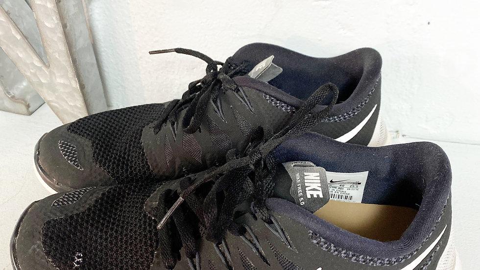 Nike Free 5.0 Black White Running Shoe Size 8.5