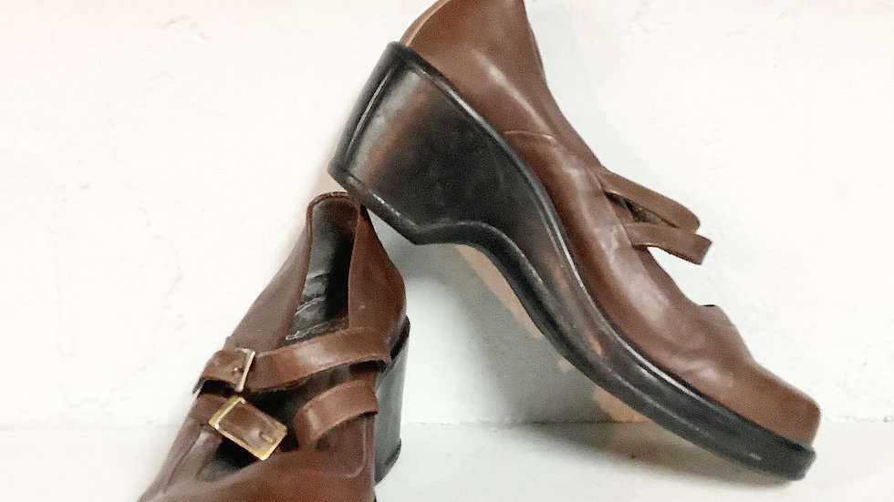 Dansko Brown Double Strap Leather Mary Jane Size 37