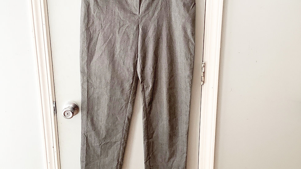 89th & Madison Gray Pull On Dress Pants Size M