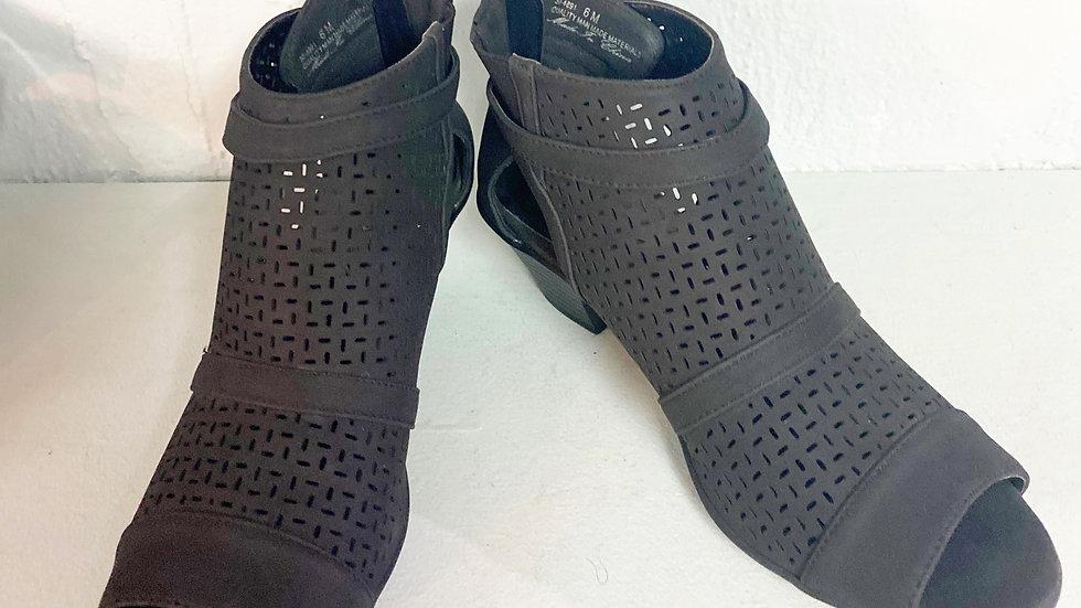 Easy Spirit Black Open Toe Ankle Boot Size 6