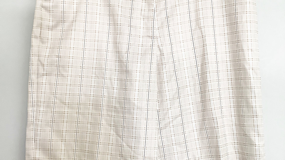 NEW Aspire Plaid Tan Bermuda Shorts Size 12