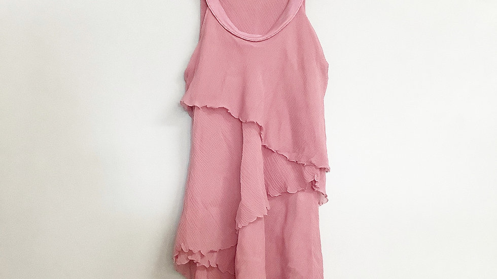 See by Chloe Pink Ruffled Sleeveless Blouse Size 4