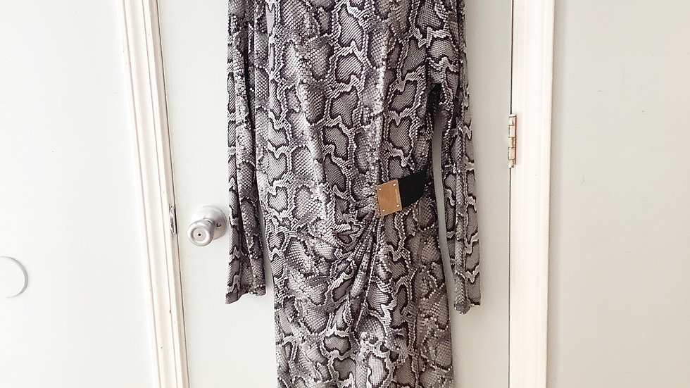 NEW Michael Kors Snake Print Dress Size 1X
