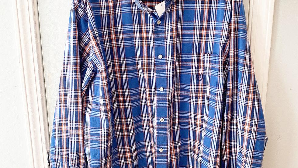 Chaps Men's Plaid Button Up Shirt Size XXL