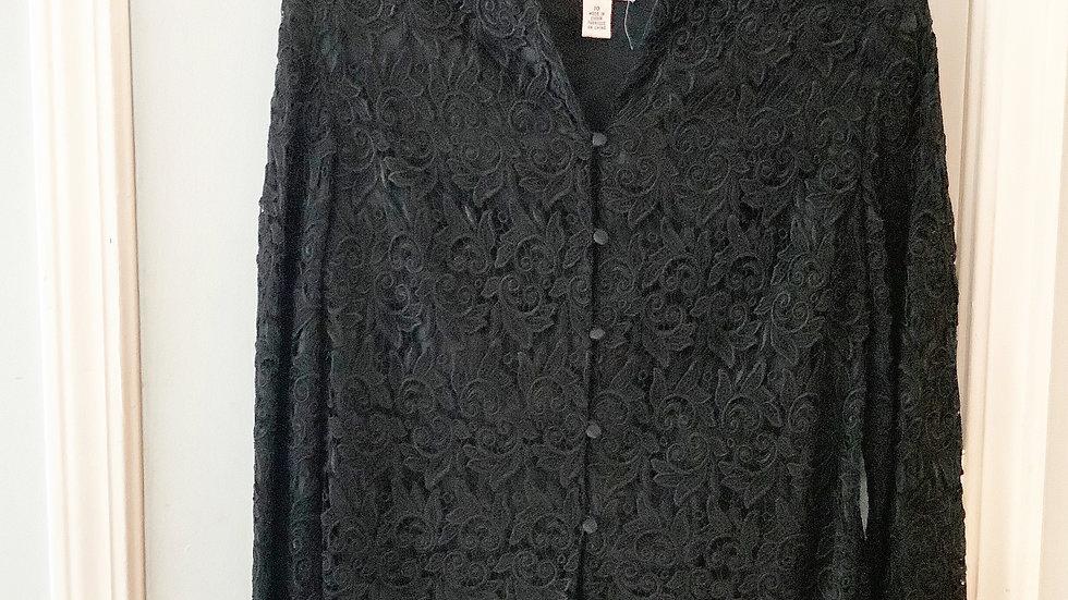 Talbot's Lace Career Jacket Blazer Size 10