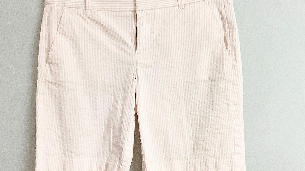 J. Crew Searsucker Pink and White Shorts Size 4
