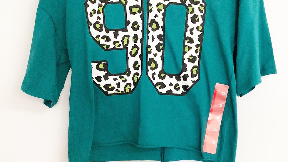NWT Grayson Threads animal print logo t-shirt XS