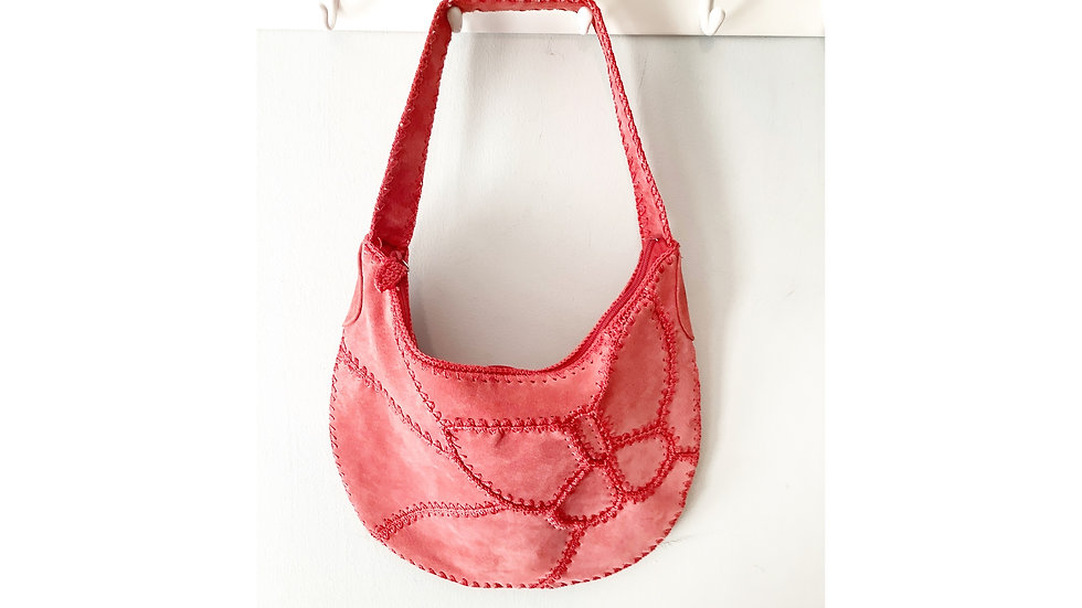 Nine West Leather Coral  Patchwork Purse