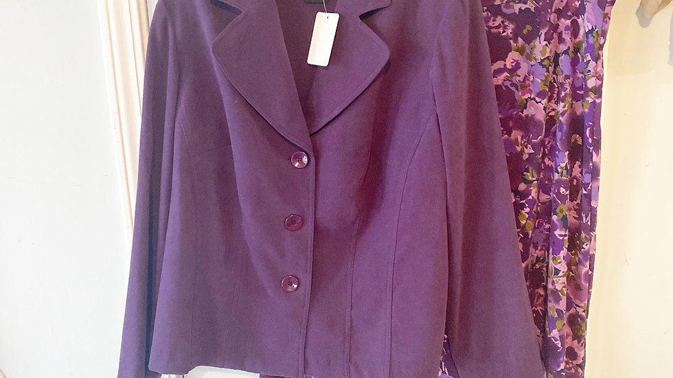 K Town Collections Purple Coordinating Skirt Blazer Size 20W