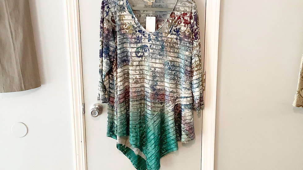 Live and Let Live Asymmetrical Top Size 1X