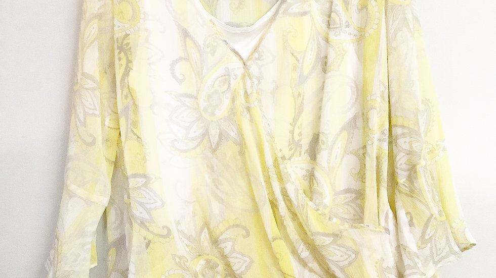 NEW Heart of Palm Sunnyside Up Blouse Size M