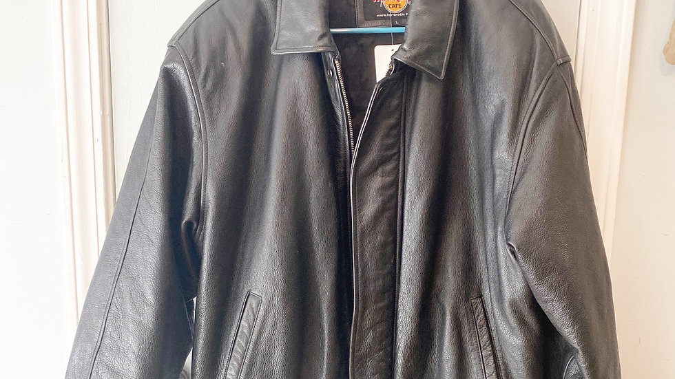 Hard Rock Cafe Men's  Leather Motorcycle Riding Jacket Size L