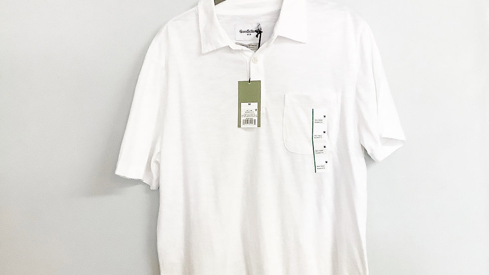 NEW Goodfellow & Co Men's White Polo