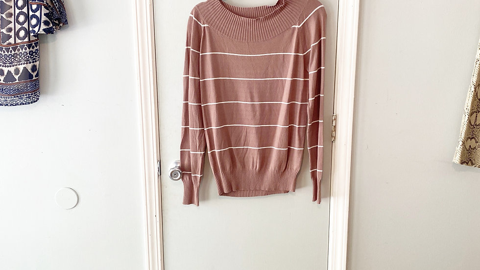 NEW Hem & Thread Ballet Neck Sweater Size M