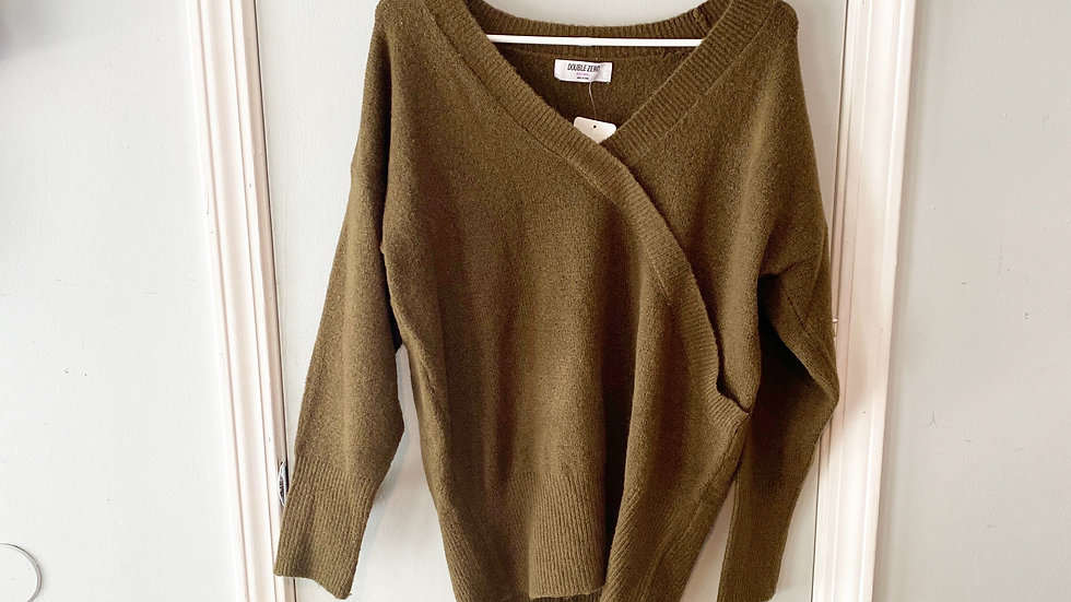 Double Zero Spicy Small Faux Wrap Sweater Size S