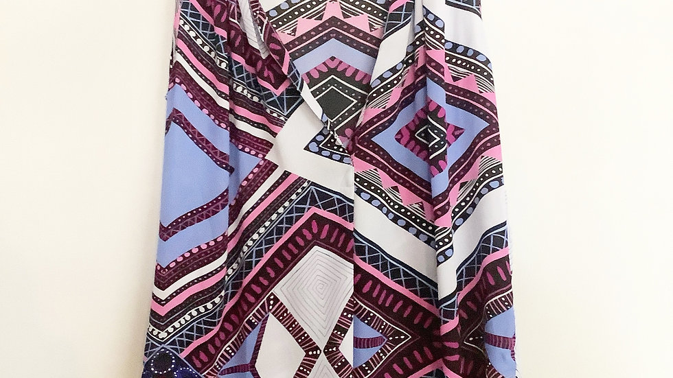 Olivaceous Sleeveless Print Blouse Size M