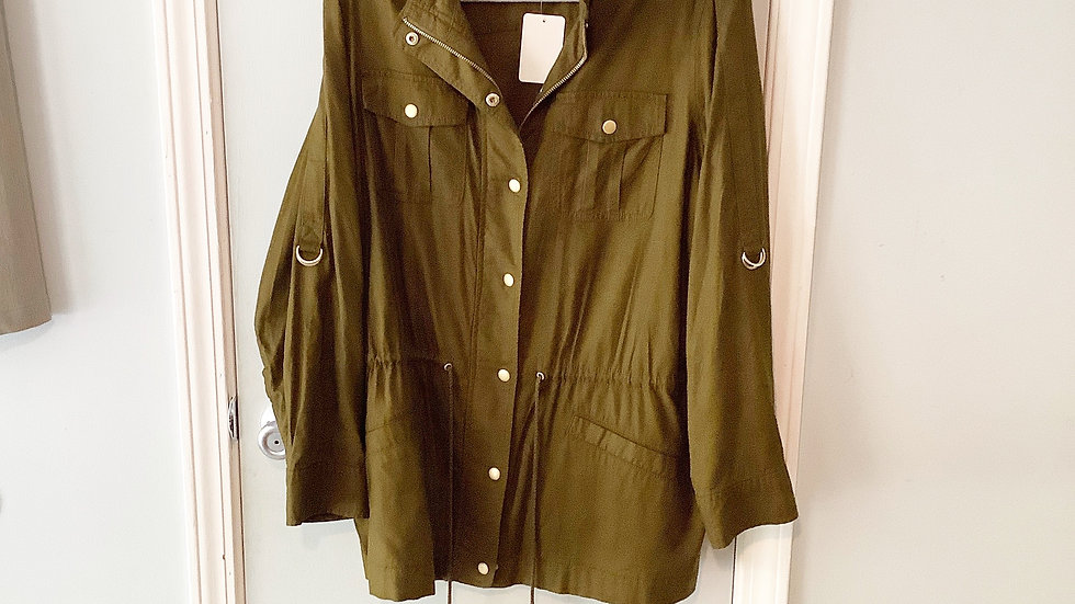 Jones New York Olive Safari Jacket Size 1X