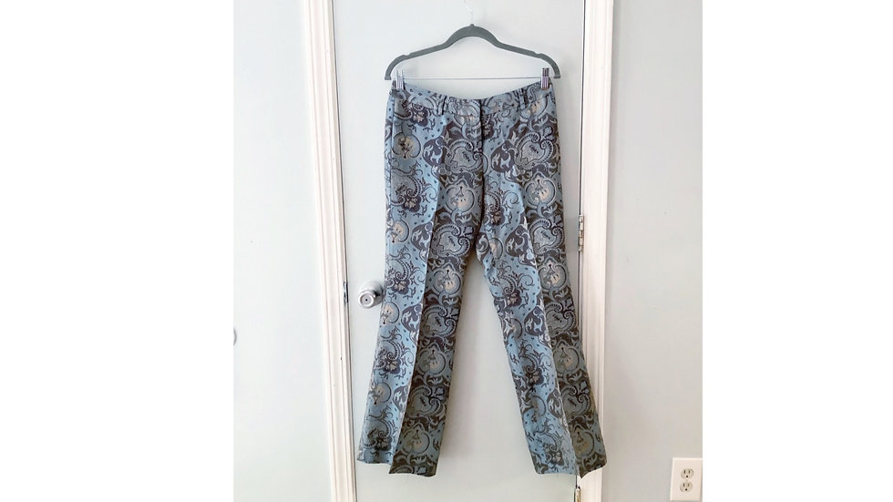 Express Design Studios Blue/Gold Pant Size 6