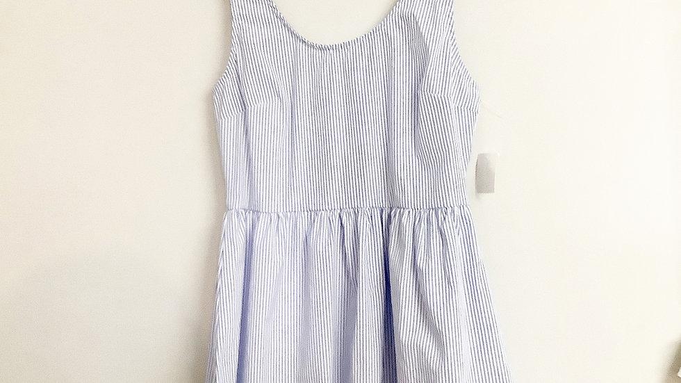 NEW Charlotte Russe Blue Striped Sundress Size M