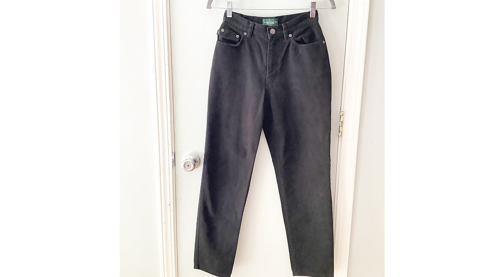 Ralph Lauren Black Curvy Jeans Size 2P