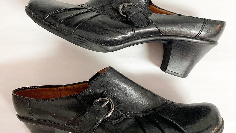Easy Spirit Classics Emily Leather Clog Size 9