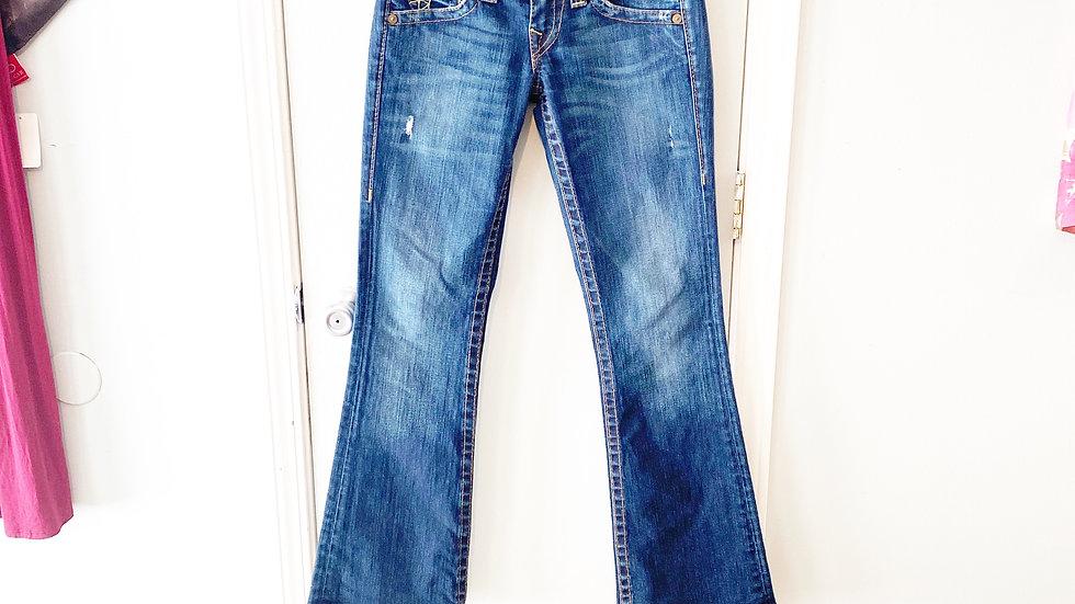 True Religion Bootcut Distressed Jean Size 27