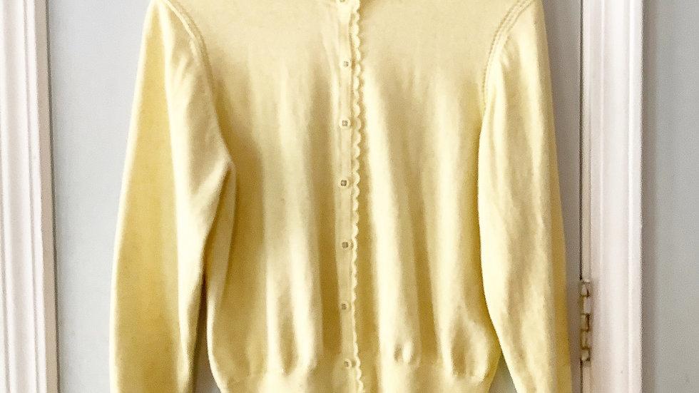 Cabi Yellow Cotton Sweater Size L