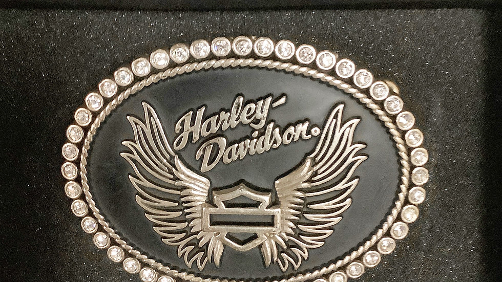 Harley Davidson Logo Belt Buckle w/Box
