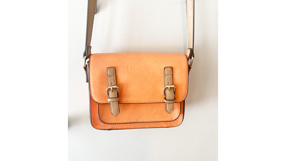 Simply Noelle Apricot Small Messenger Crossbody Bag