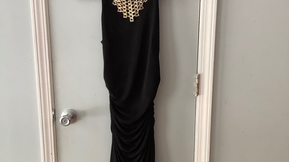 Laundry By Shelli Segal Sheath Dress with Gold Hardware Size 4