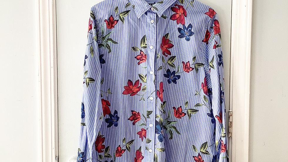 Lauren Ralph Lauren Floral Cotton Top Size XL