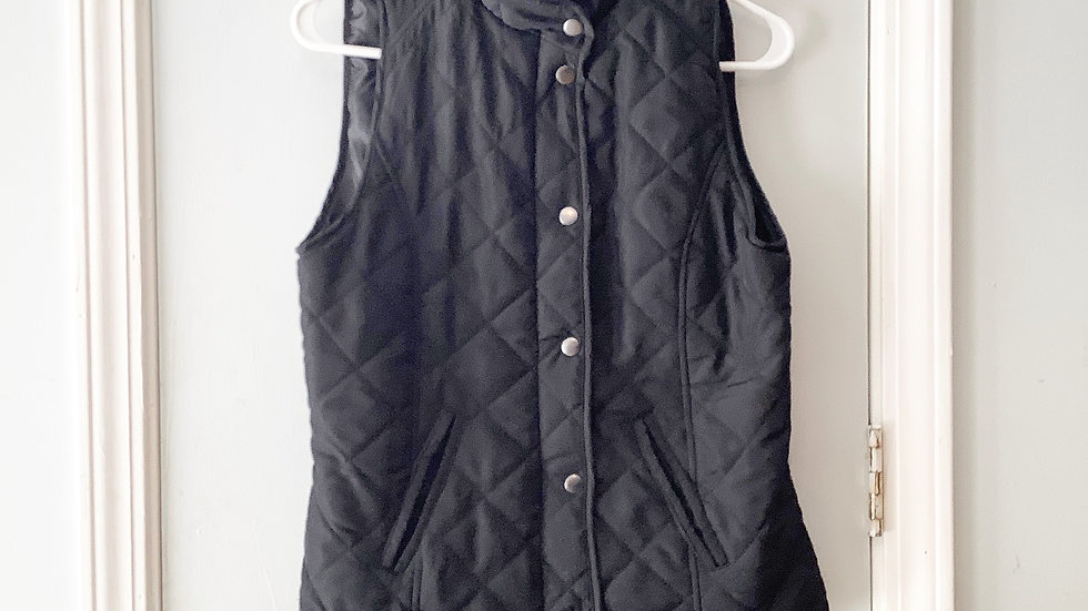 New Directions Quilted Vest Size S