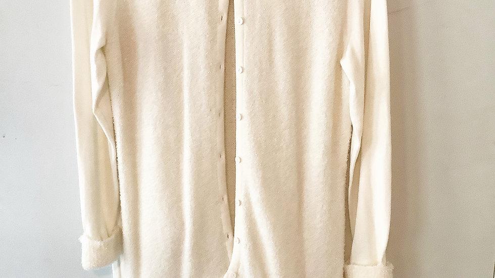 Alfani Button Up Cardigan Metallic Thread Size L