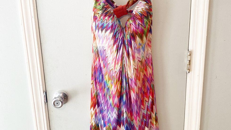 Arnyn K. Strapless Chevron Print Dress Size S