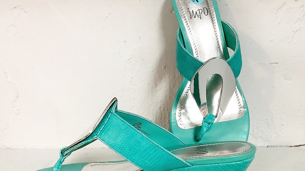 Impo Gussy Teal Sandal Size 7.5