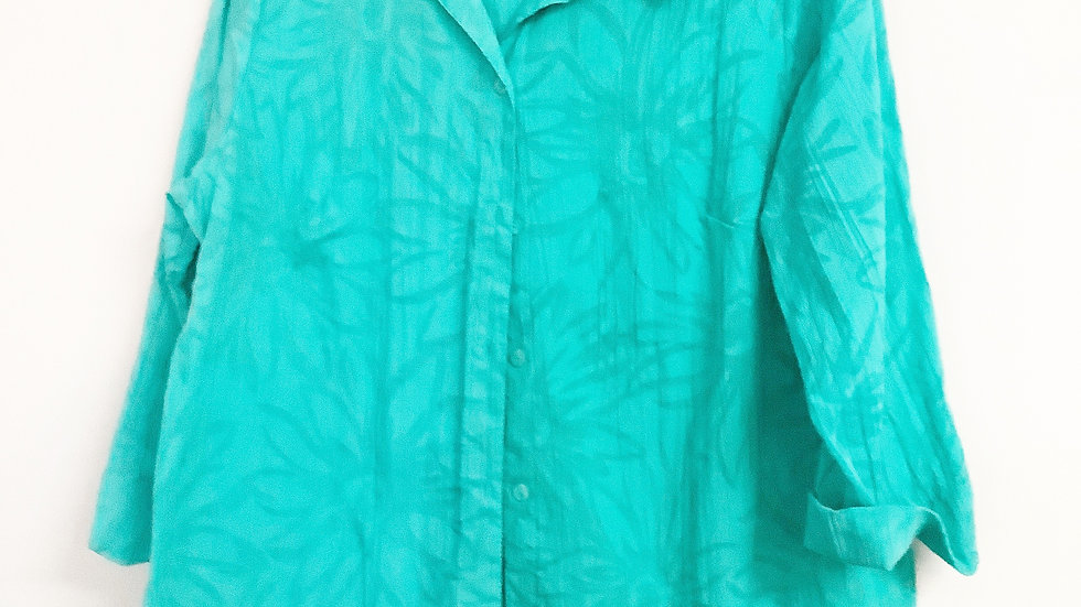 Sag Harbor Tropical 1/4 Sleeve Top Size M